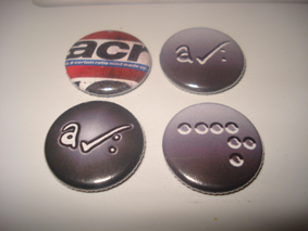 set of four badges March 2009