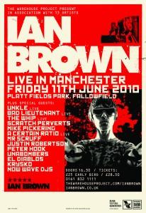 Poster for Platt Fields gig on 11th June 2010